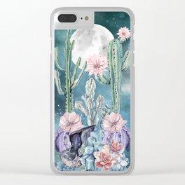 Desert Nights Gemstone Oasis Moon Clear iPhone Case