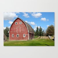 farm Canvas Prints featuring farm by Cpayne