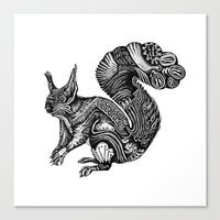 squirrel Canvas Prints featuring Squirrel by Ejaculesc
