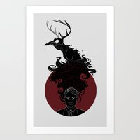 hannibal Art Prints featuring Hannibal by Sutexii