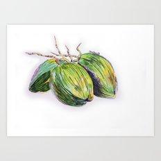 Island life coconut Art Print
