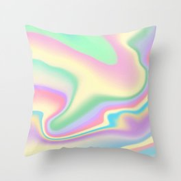 Holographic Design Throw Pillow