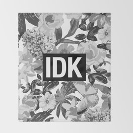 IDK Throw Blanket