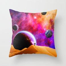 Space Solitude Throw Pillow