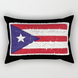 Puerto Rican flag with distressed textures Rectangular Pillow