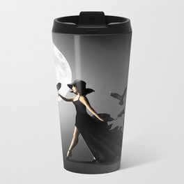 The woman with the ravens Metal Travel Mug