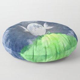 Mother Earth Goddess Moon Floor Pillow