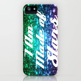 I Am Made Of Stars Affirmation Galaxy Sparkle Stars iPhone Case