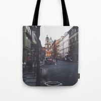 prague Tote Bags featuring PRAGUE by REASONandRHYME