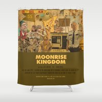 wes anderson Shower Curtains featuring Moonrise Kingdom - Wes Anderson by Smart Store