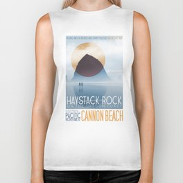 Haystack Rock of Cannon Beach, Oregon Biker Tank