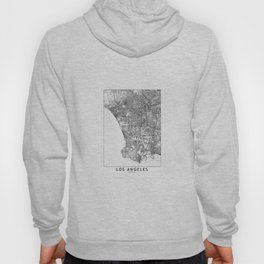 Los Angeles White Map Hoody