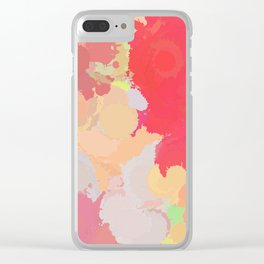 Red abstract splatter Clear iPhone Case