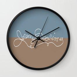 Jeremy Bearimy Blue Brown Color Block Wall Clock