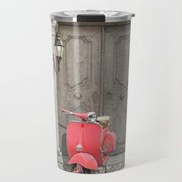 Nostalgia pink scooter Travel Mug