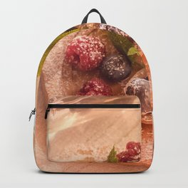 Fresh Fruits Still life  Backpack