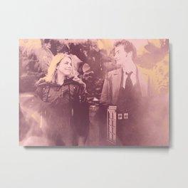 Ten & Rose Metal Print