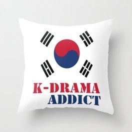 K-drama Addict Throw Pillow