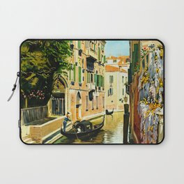 Venezia - Venice Italy Vintage Travel Laptop Sleeve