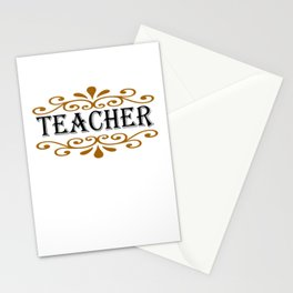 Teacher Ornament Stationery Cards