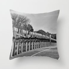Gasoline Alley, Isle of Man Throw Pillow
