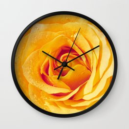 Gold Rose Bud- Yellow Roses and flowers Wall Clock