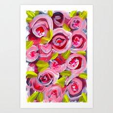 Roses on Roses on Roses Art Print