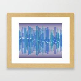 Blasting Waves Framed Art Print
