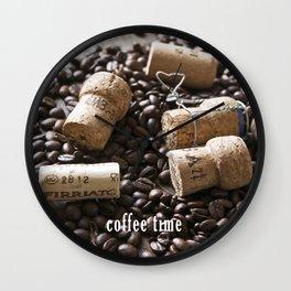Cork & Coffee Wall Clock