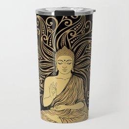 Mandala Golden Buddha Travel Mug