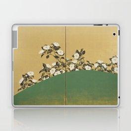 Camelias - Japanese Edo Period 2-Panel Screen Laptop & iPad Skin