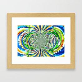 Kaleidoscope Graffiti Stripes  Framed Art Print