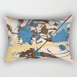 Miniature Original - blue brown beige Rectangular Pillow