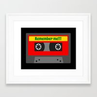 80s Framed Art Prints featuring 80s by Cassino Woodes