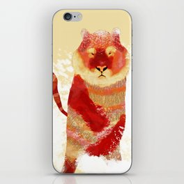 tiger in the snow iPhone Skin