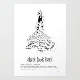 Don't Look Back (1967) Art Print