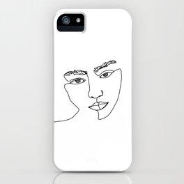 Face one line illustration - Esma iPhone Case