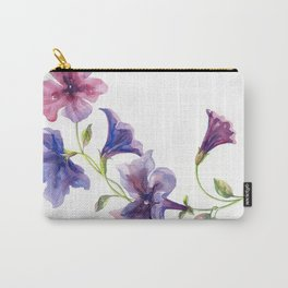 Watercolor branch of petunia. Carry-All Pouch