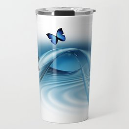 Blue Butterflies Travel Mug