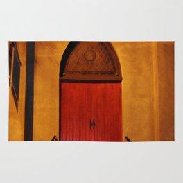 Church Door At Night Rug