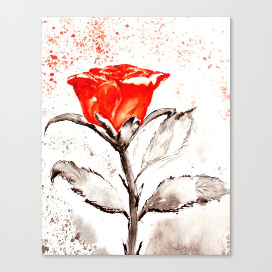 Just another rose Canvas Print