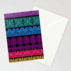 folk cutouts pattern Stationery Cards