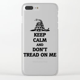 Keep Calm And Don't Tread On Me Gadsden Clear iPhone Case