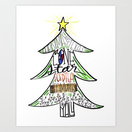 Christmas in Texas Art Print