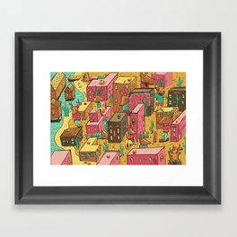 Deertown Framed Art Print