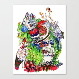 The rocking horse Canvas Print