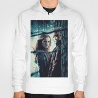 hermione Hoodies featuring H. Potter - Hermione & Ron by Juniper Vinetree