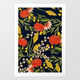 Chasing Colors Art Print