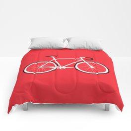 Red Fixed Gear Bike Comforters