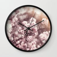 blush Wall Clocks featuring Blush by Jamesy (happypastel)